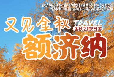 胡杨林 张掖丹霞 怪树林 居延海 嘉峪关城楼(6日行程)