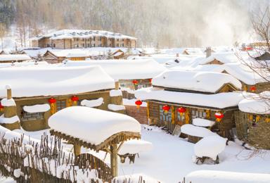 冰雪梦幻A线舒适团|5S滑雪徒步梦幻雪山摩托冲浪镜泊蓝冰(7日行程)