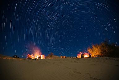 敦煌莫鸣月沙漠烧烤露营观星星赏月亮一日游!(1日行程)