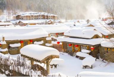 冰雪梦幻A线 舒适团 滑雪 徒步梦幻雪山 镜泊蓝冰 雪乡(7日行程)